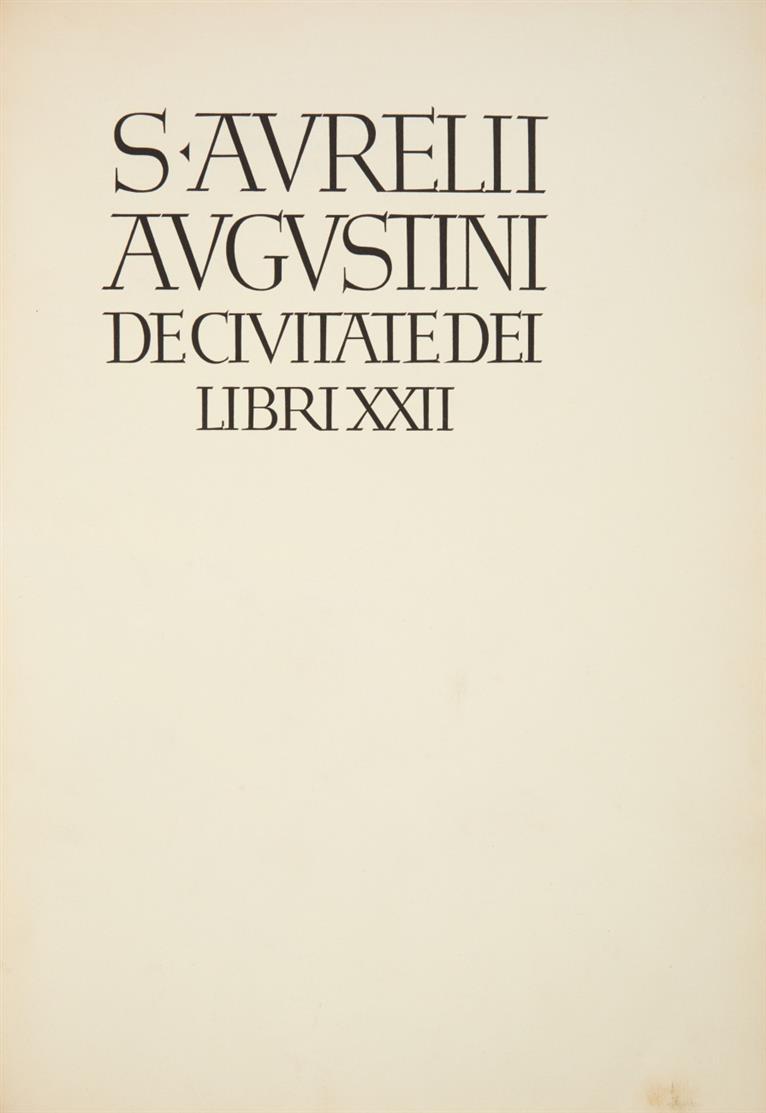 A. Augustinus, De civitate Dei libri XXII. München, Bremer Presse 1924.