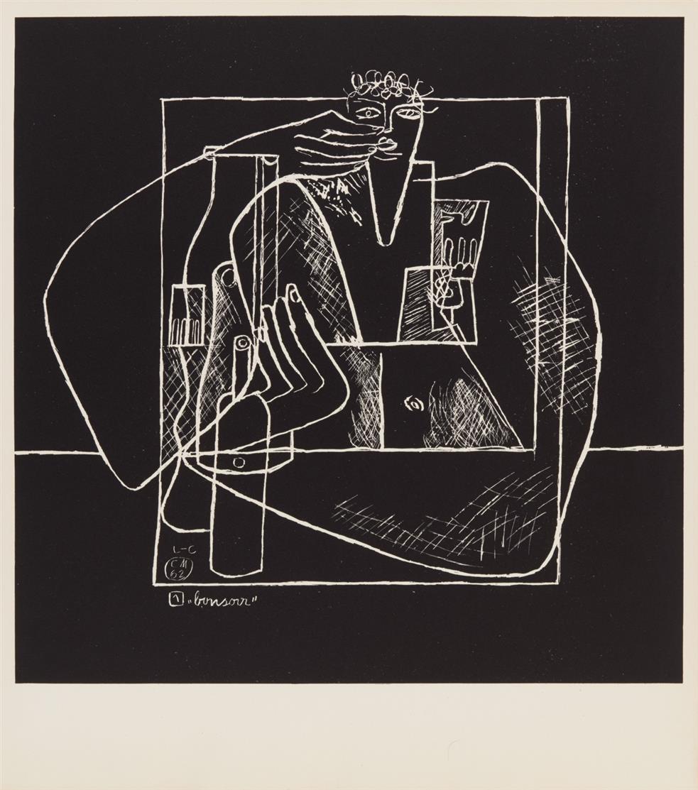 Le Corbusier. La Mer est toujours présente. 1962. Mappenwerk mit 10 Lithographien. Ex. 92/120.