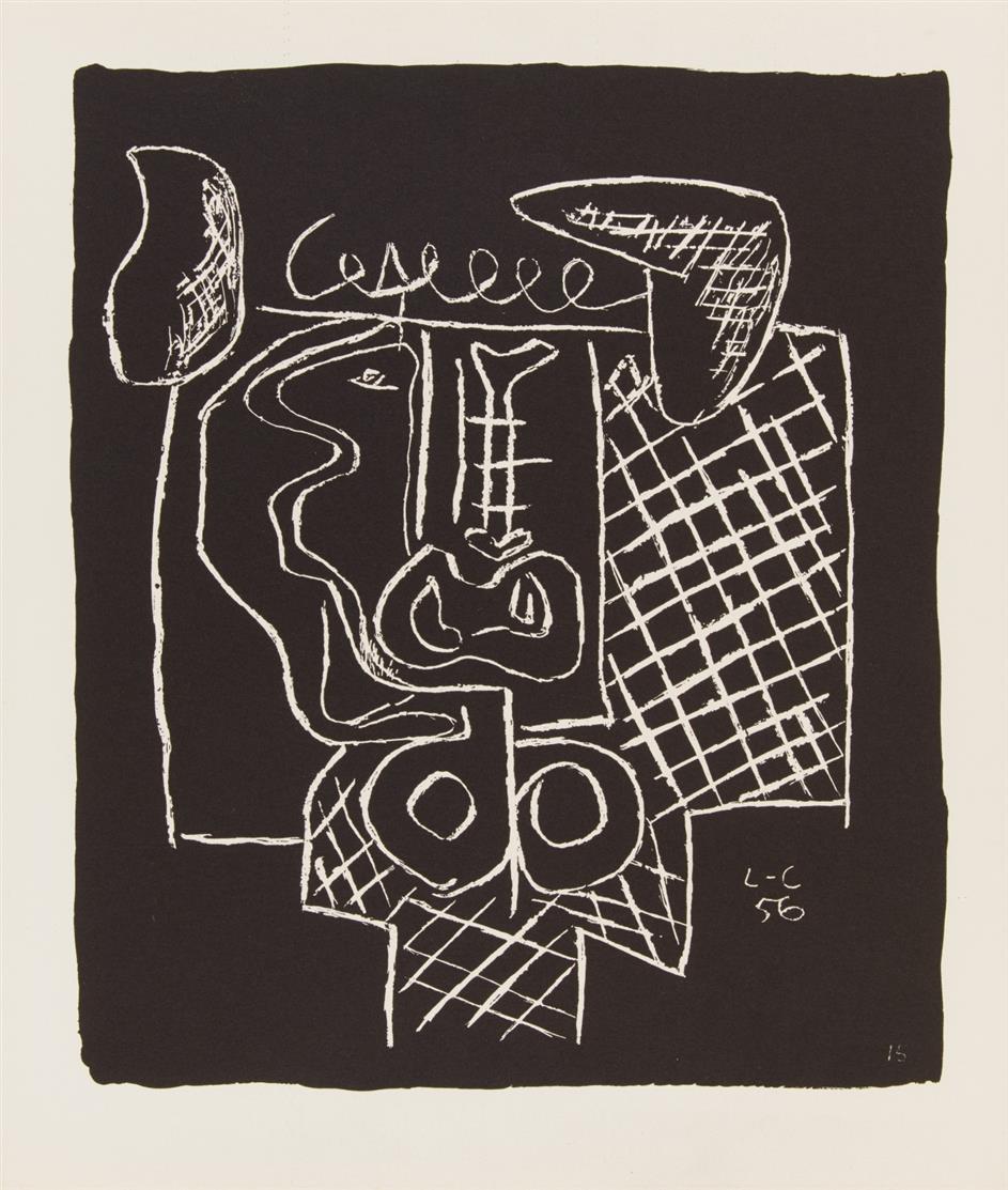 Le Corbusier. Ohne Titel (Aus: Entre-Deux ...). 1964. 2 Blatt Lithographien. Im Stein monogrammiert.