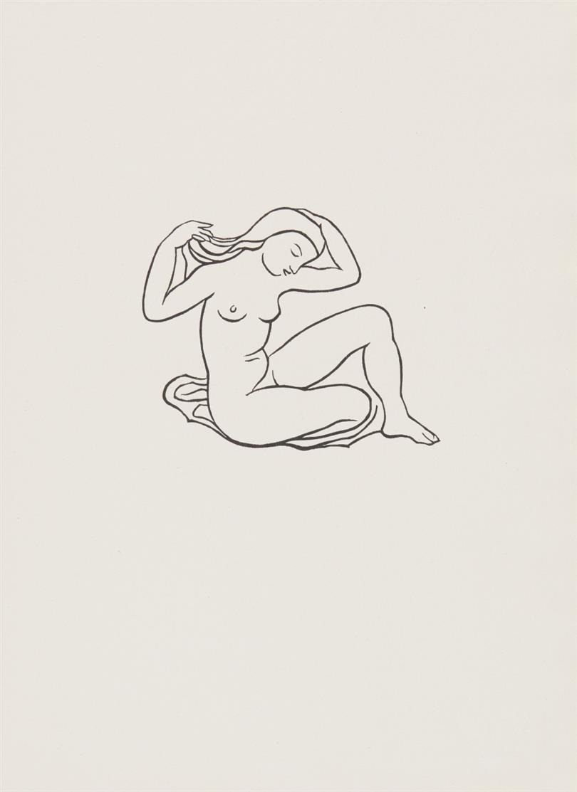 Aristide Maillol. Ovide, L'Art d'aimer. Illustr. Umschlag mit 11 Blatt Holzschnitten.