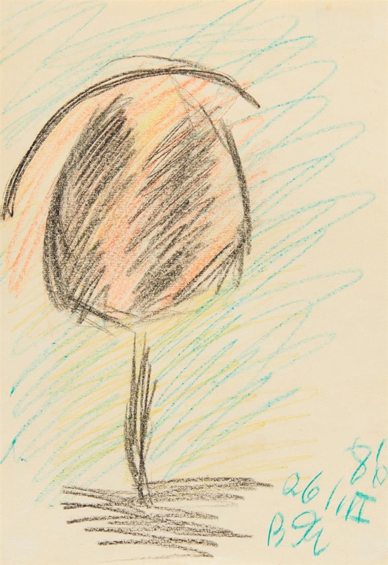 Vladimir Igorevich Yacovlev. Ohne Titel. 1986. 3 Blatt Farbkreiden bzw. Buntstifte. Signiert bzw. monogrammiert.