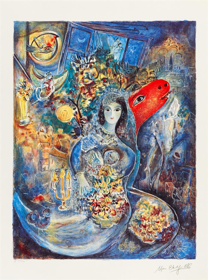 Marc Chagall. Bella. 1989. Farboffsetlithographe. Plakat. Ex. 200/500.