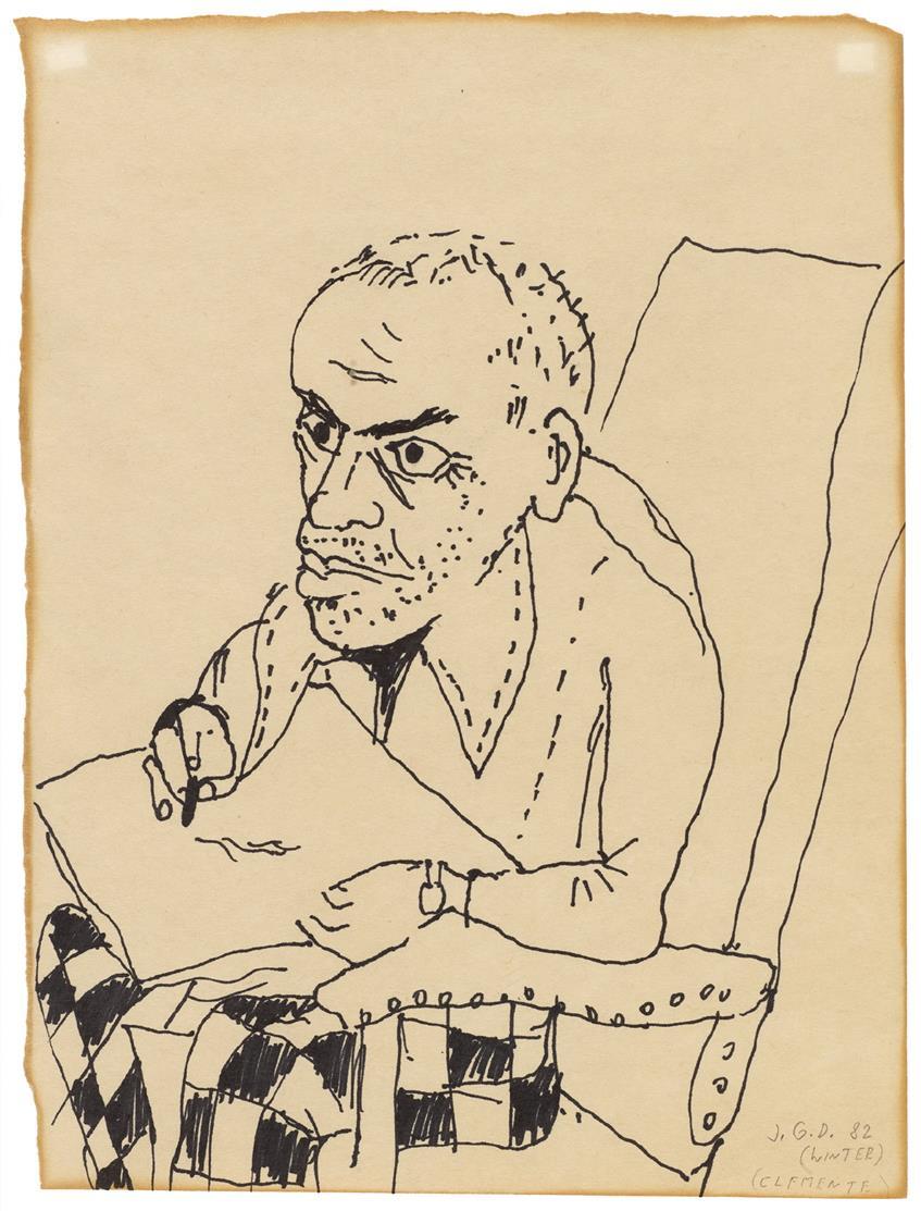 Jiri Georg Dokoupil. (Winter Clemente). 1982. Filzstift auf Papier. Ca. 30 x 23 cm.