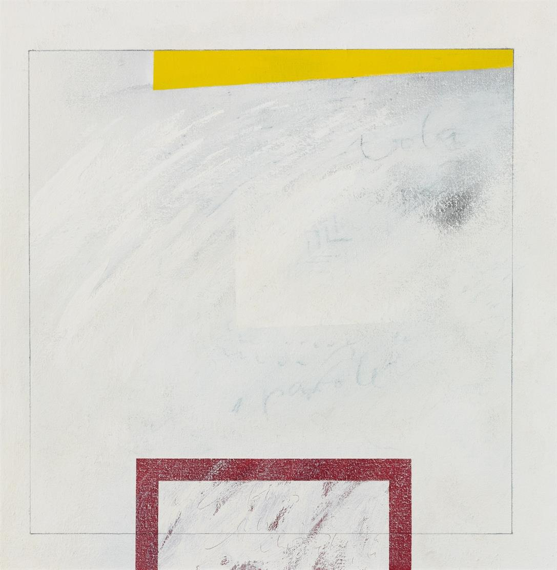 Peter Willen. Ohne Titel. 1986. Acryl, Tempera, Bleistift und Tusche auf Lwd. Signiert.