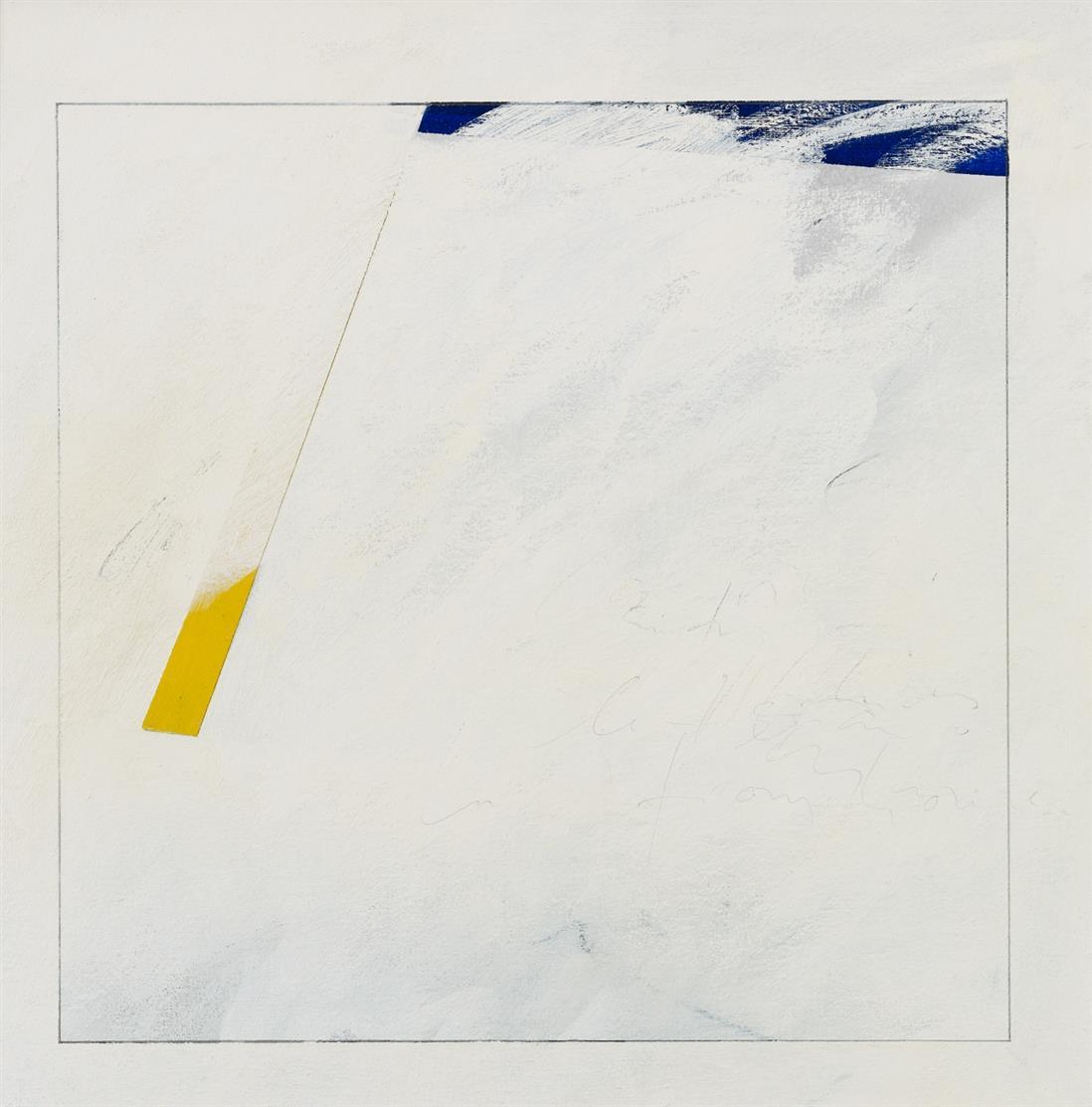 Peter Willen. Ohne Titel. 1986. Acryl, Tempera, Tusche und Bleistift auf Lwd. Signiert.