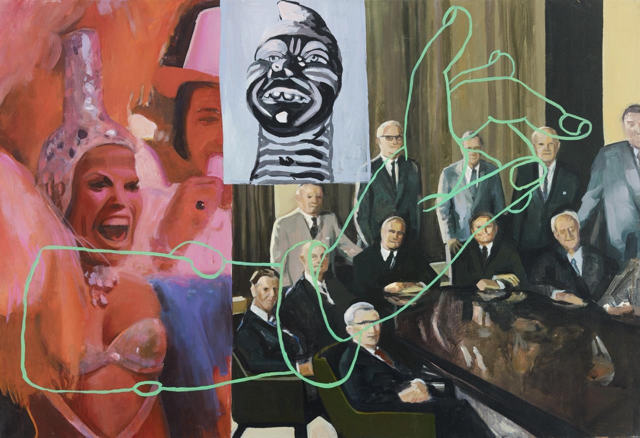 Kate Waters. Voodoo you. 1996. Öl auf Leinwand. Verso signiert und bezeichnet.
