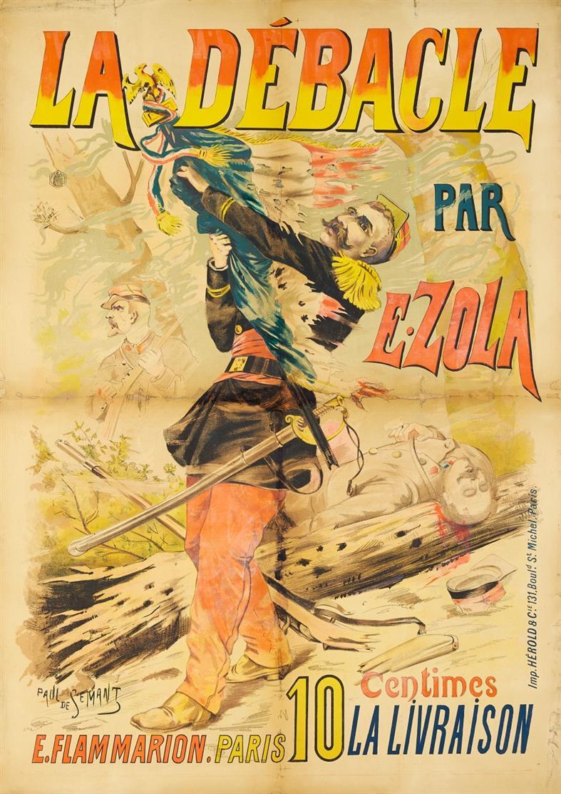 Paul de Sémant. La Debacle par E. Zola. Plakat.