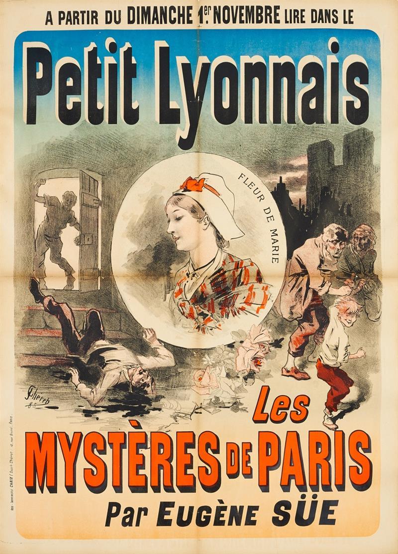Jules Chéret. Petit Lyonnais. Les Mystères de Paris. 1885. Plakat.