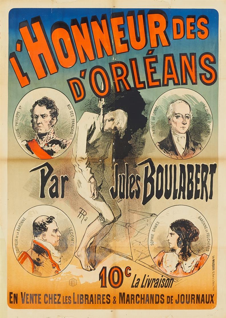 Jules Chéret. D'Honneur des D'Orleans. 1886. Plakat.