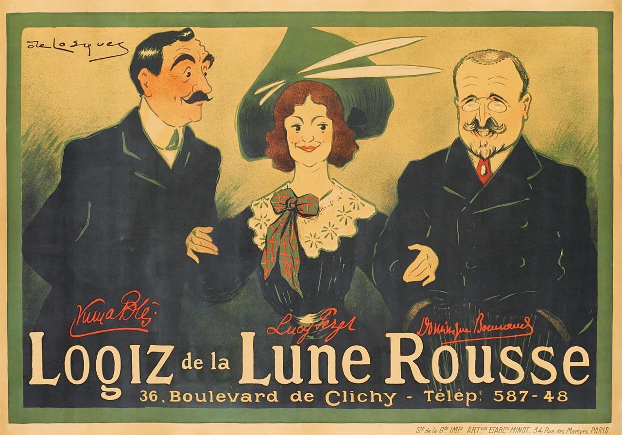 Daniel Thouroude de Losques. Logiz de la Lune Rousse. Um 1910. Plakat.