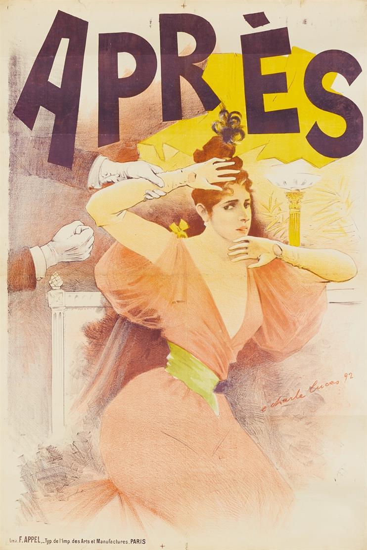 E. Charle Lucas. Après. 1892. Plakat.