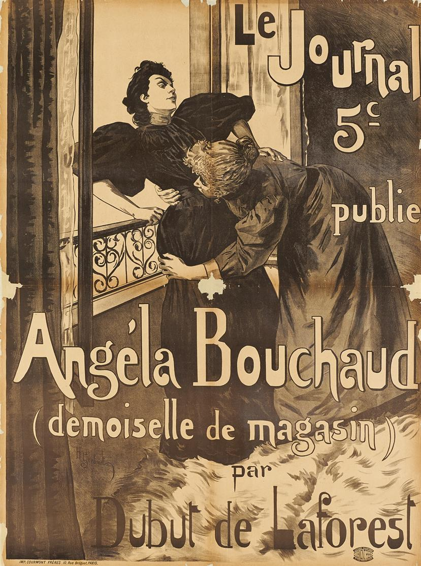 Henry Gerbault. Angéla Bouchaud. Plakat.
