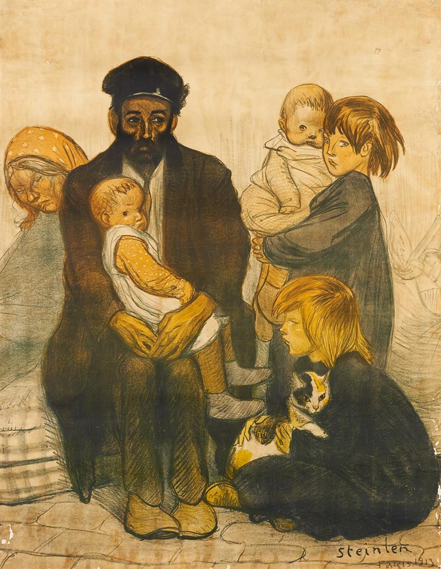 Théophile Alexandre Steinlen. Le Locataire. 1913. Plakat.