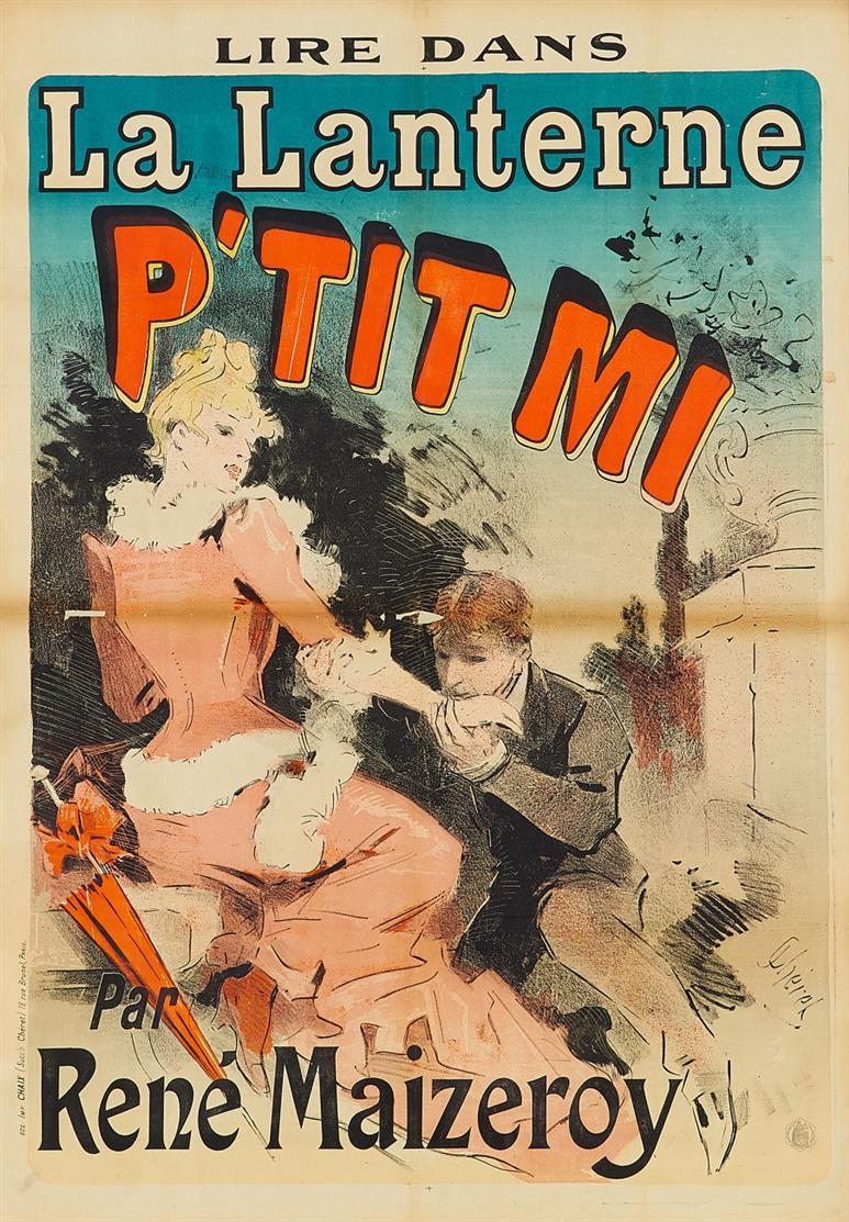 Jules Chéret. La Lanterne P'tit Mi. 1888. Plakat.