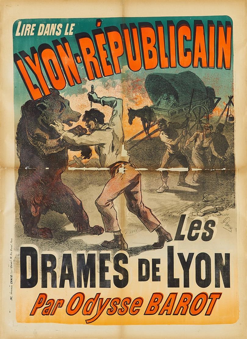 Jules Chéret. Lyon Républicain. 1887. Plakat.