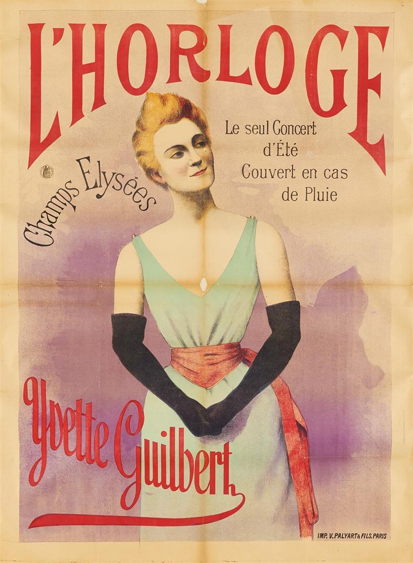 (Anonym). L'Horloge Yvette Guilbert. Plakat.