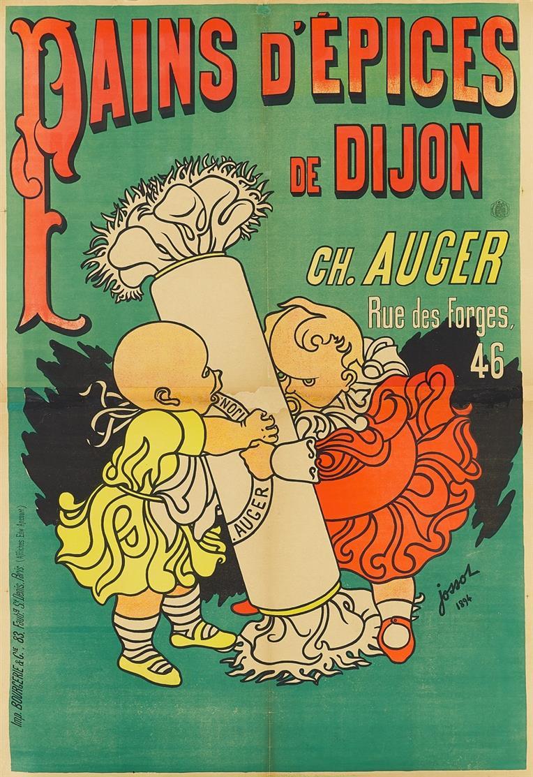 Henri Jossot. Pains d'Épices de Dijon. 1894. Plakat.