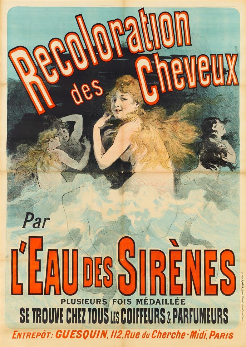 Jules Chéret, Recoloration des Cheveux. 1888. Plakat.
