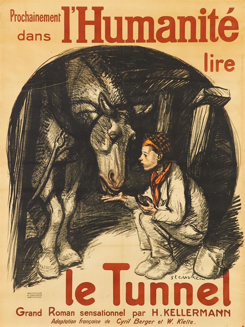 Théophile Alexandre Steinlen. Le Tunnel. (1920). Plakat.