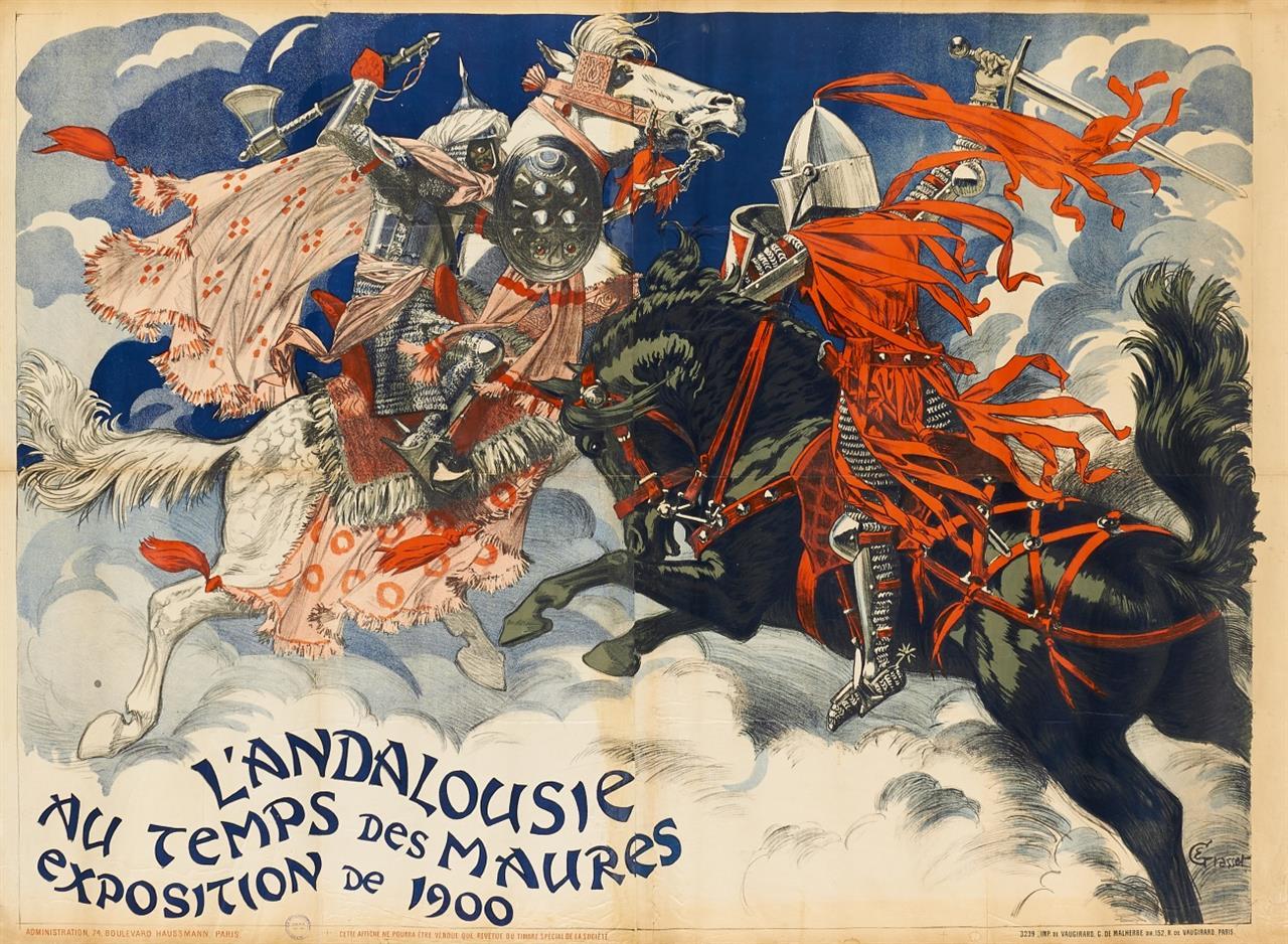 Eugène Samuel Grasset. L'Andalousie au Temps des Maures. 1900. Plakat.
