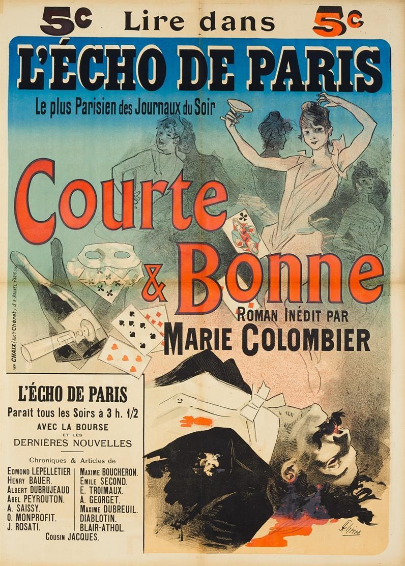 Jules Chéret. Lire dans L'Echo de Paris. 1888. Plakat.