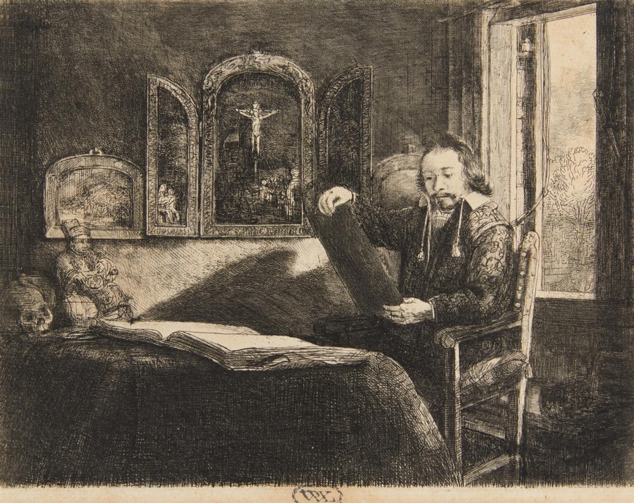 Rembrandt. Abraham Francen. Um 1657.  Radierung. New Hollstein 301 XI (von XII).
