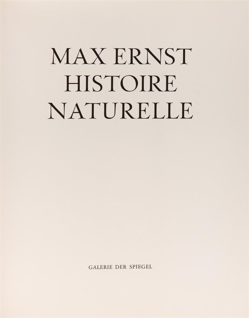 Max Ernst, Histoire naturelle. Köln 1965. - Ex. 40 /60.
