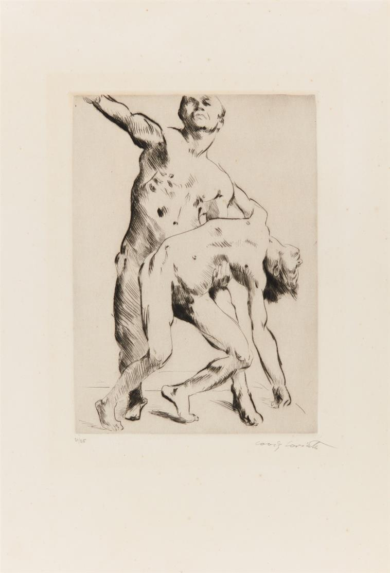 Lovis Corinth. Odysseus und die Freier. 1914. Kaltnadelradierung. Signiert. Ex. 21/25. Schwarz 172.
