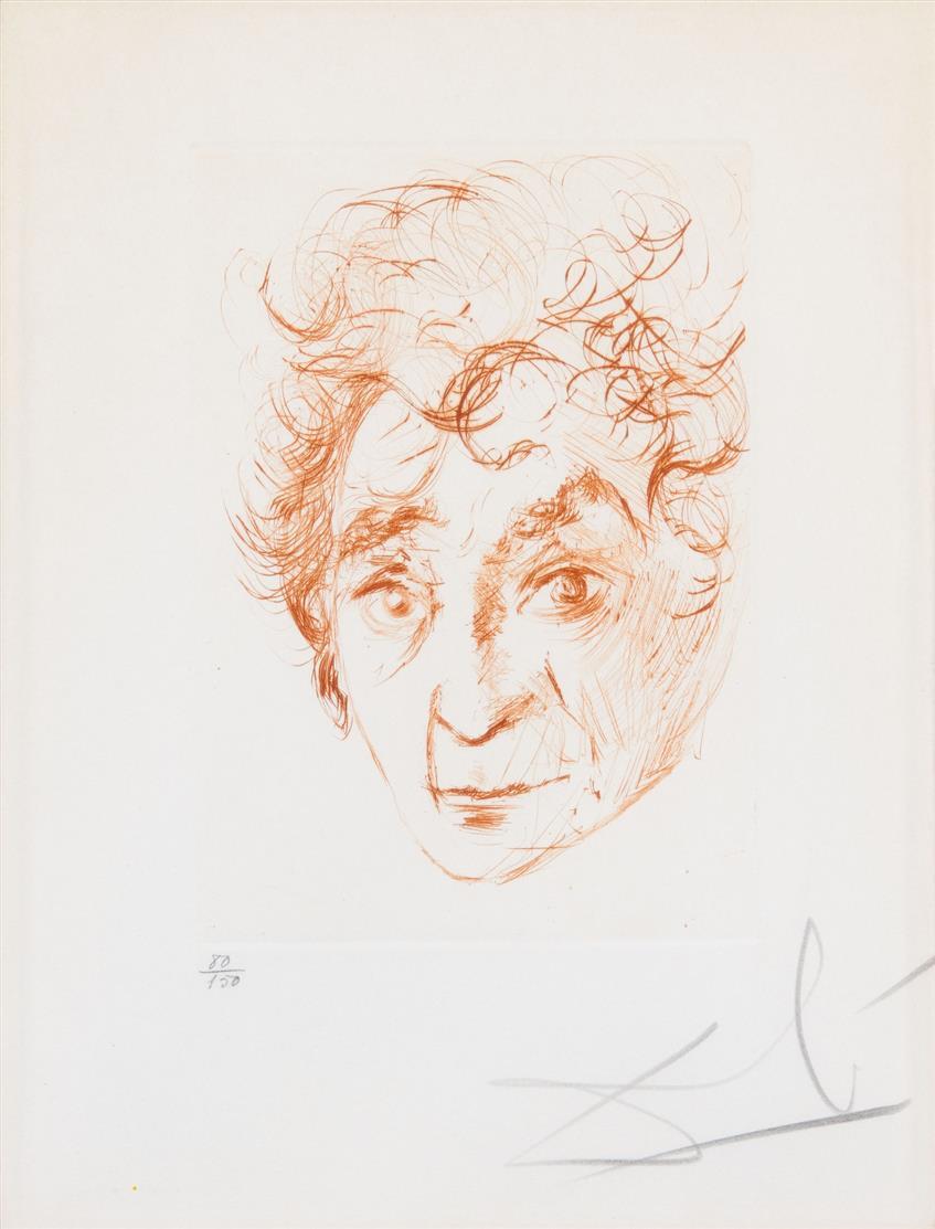 Salvador Dalí. Chagall. Radierung. 1968. Signiert. Ex. 80/150. M/L 293 a.