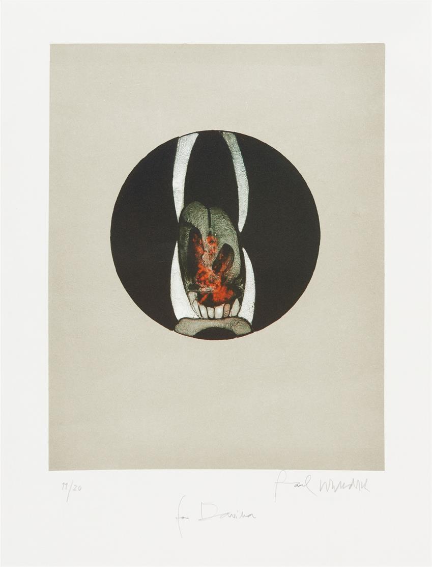 Paul Wunderlich. Löwenmäulchen. 1969. Farblithographie. Signiert. Ex. 11/20. Riediger 338.