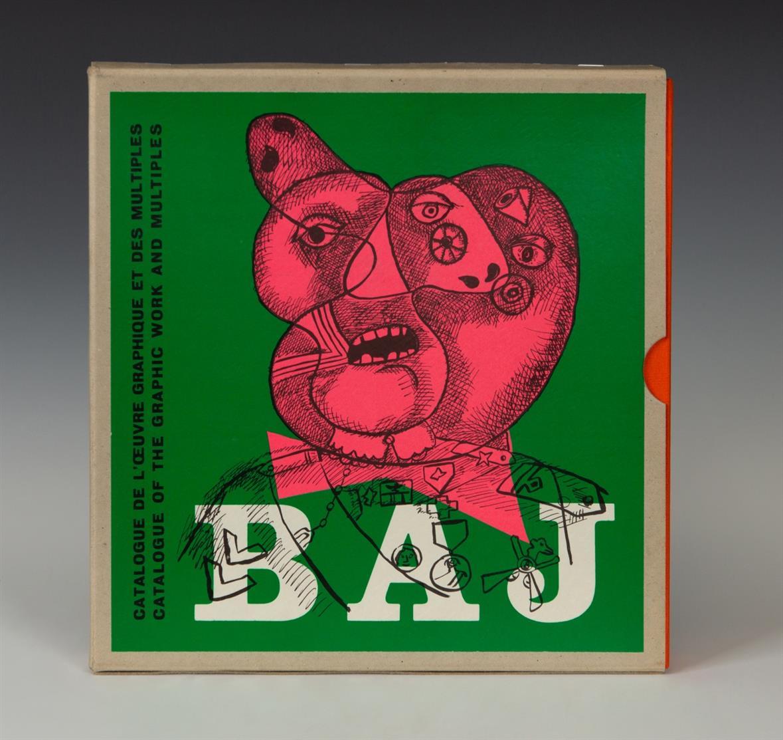 J. Petit / E. Baj,  Catalogue de l'œuvre graphique et des multiples d'Enrico Baj. 2 Bde. Paris/Genf 1970-73.