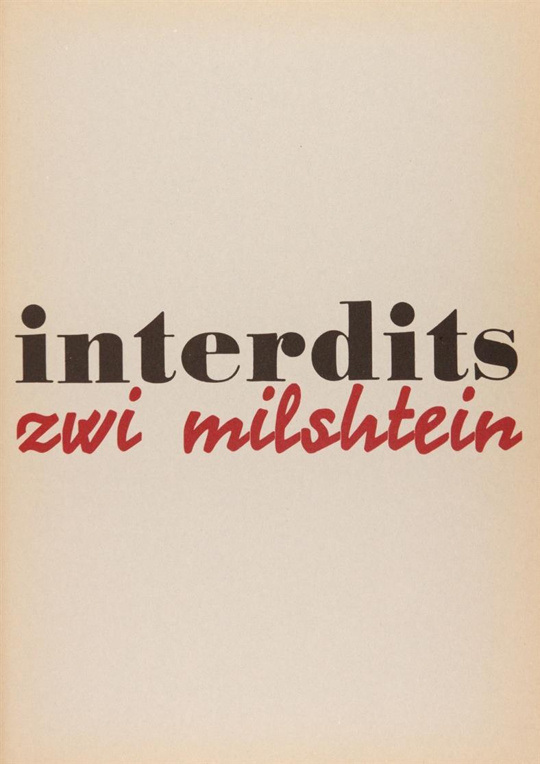 Zwi Milshtein, Interdits. Genf 1972. - Ex. 11/50.