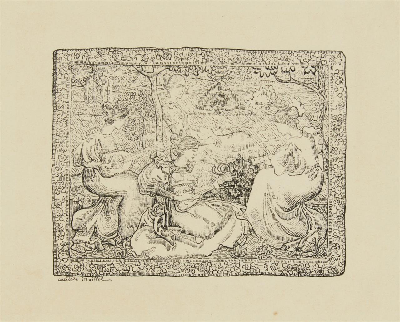 Aristide Maillol. Concert Champêtre. 1895. Federzinkographie. G. 261.