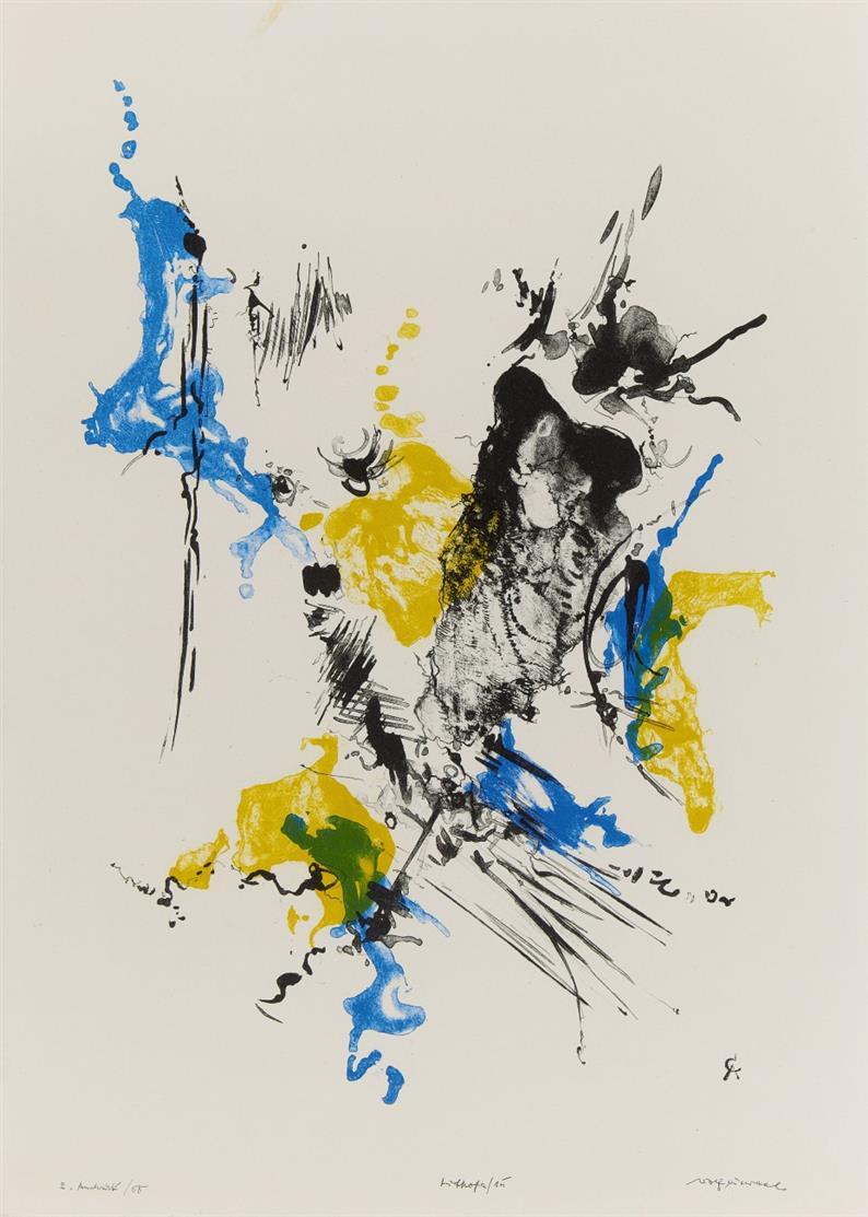 Rolf Cavael. Lithofa 15. 1958. 2. Andruck. Signiert. 59,5 x 43 cm. Wirth 64/65.