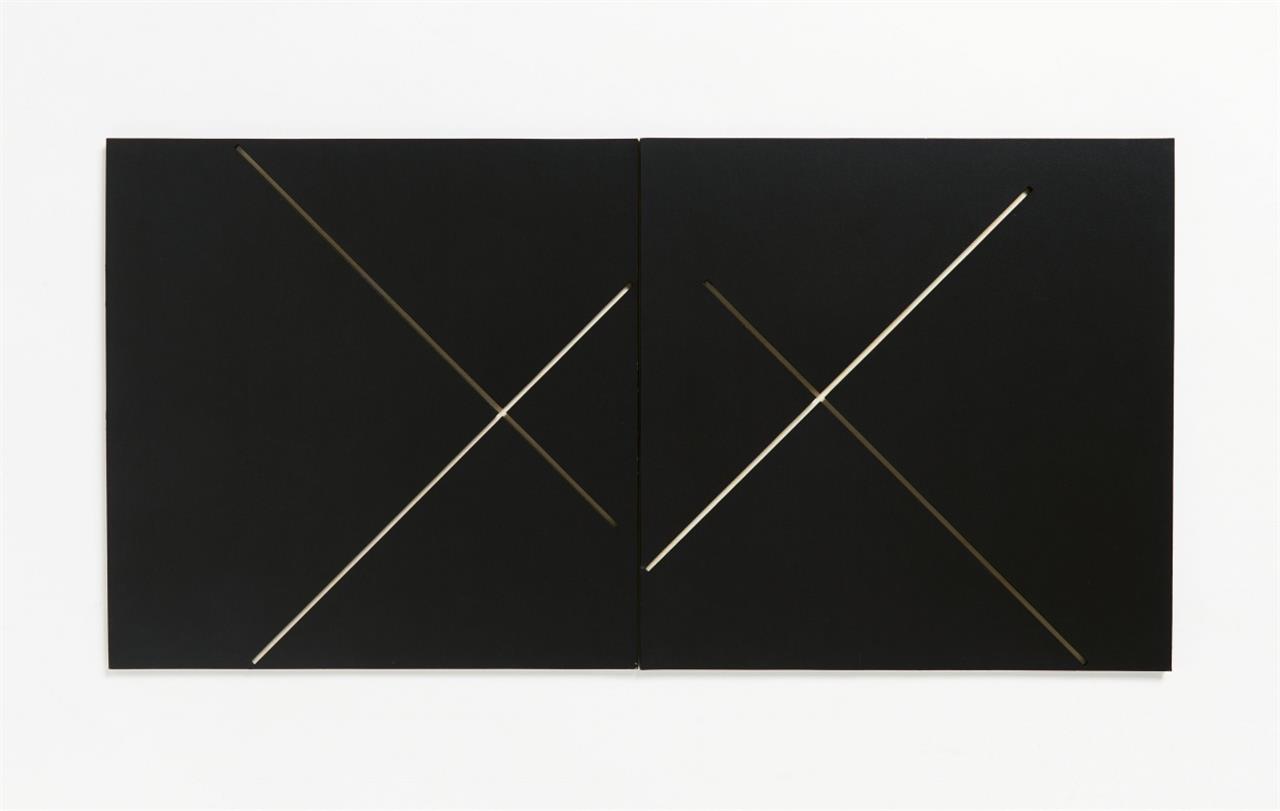 Douglas Allsop. II 306-102 (...). 1986. Kassette mit 2 Karton-Falt-Objekten und Lithographien. Je monogrammiert . Ex. 17/50.
