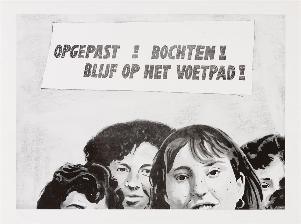 Panamarenko. Opgepast! Bochten! 1967. Offsetdruck. Signiert. Ex. 34/40.