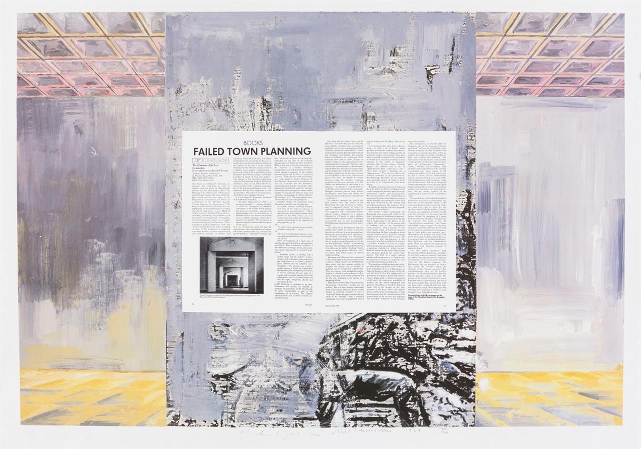 Art & Language (Michael Baldwin / Mel Ramsden). Failed Town Planning. 1987. Farboffsetlithographie. Signiert. Ex. 64/100.