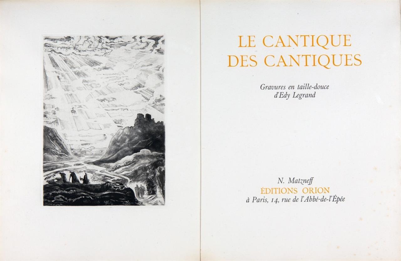 E. Legrand, Le cantique des cantiques. Paris 1930. - Ex. 45/115. Mit 3 Suiten.