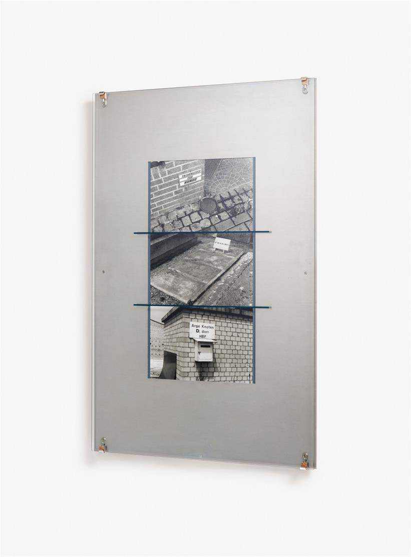 Reinhard Mucha. Documenta X Edition. 1997. Mischtechnik auf Aluminium. Signiert. Ex. 5/65. Edition Schellmann.