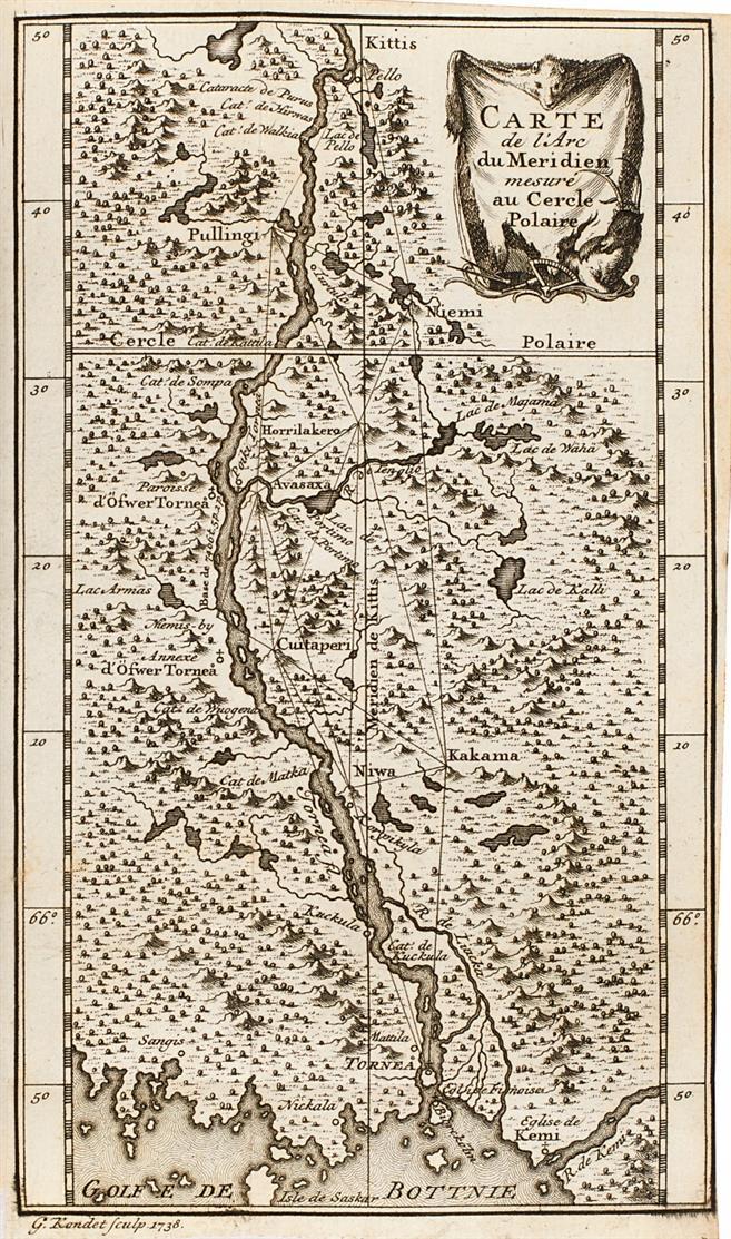 Moreau de Maupertuis, La figure de la terre. Amsterdam 1738.