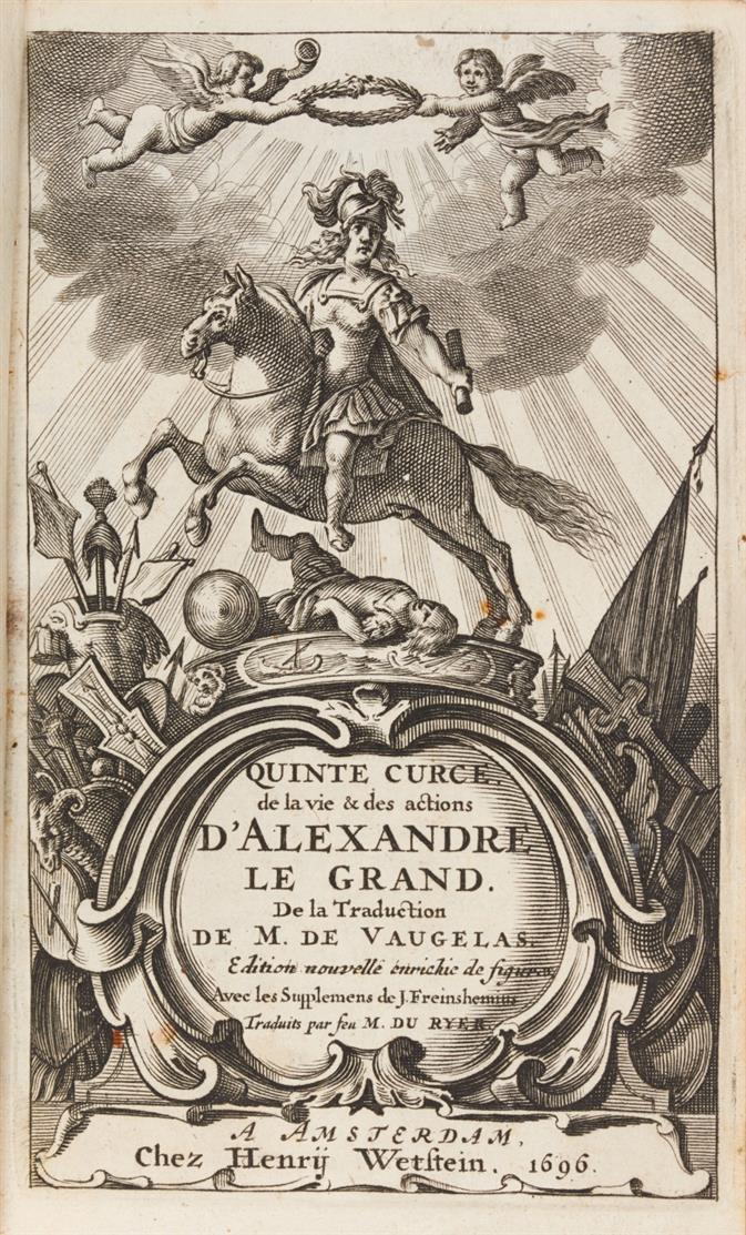 Curtius Rufus, De la vie d'Alexandre le Grand. Nouv. éd. Amsterdam 1696.