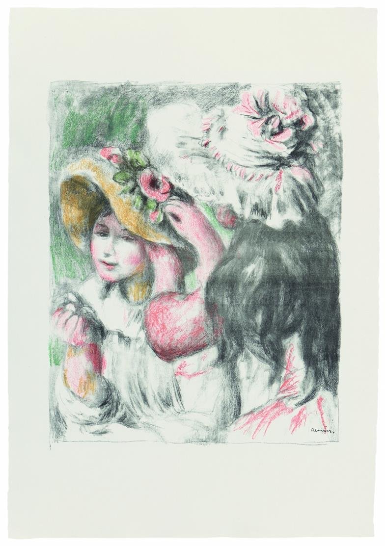 Pierre-Auguste Renoir. Le Chapeau Épinglé, 2e Planche. Um 1898. Farblithographie.