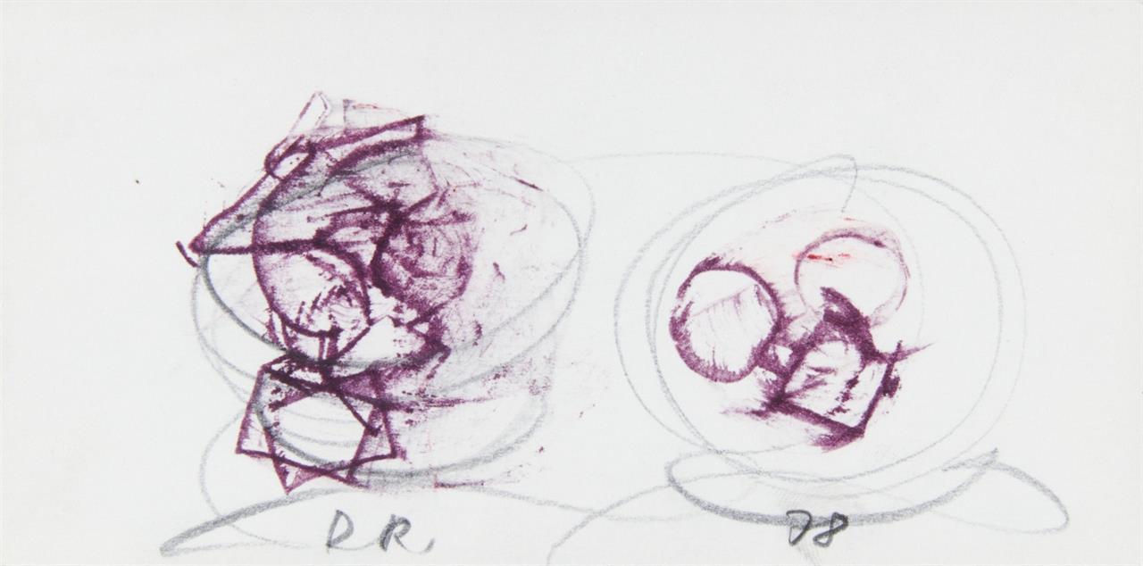 Dieter Roth. Ohne Titel. 1978. Bleistift und Aquarell.