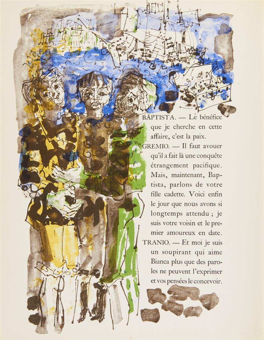 W. Shakespeare / P. Aïzpiri, La Sauvage apprivoisée. Paris 1957. - Ex. 32/150.