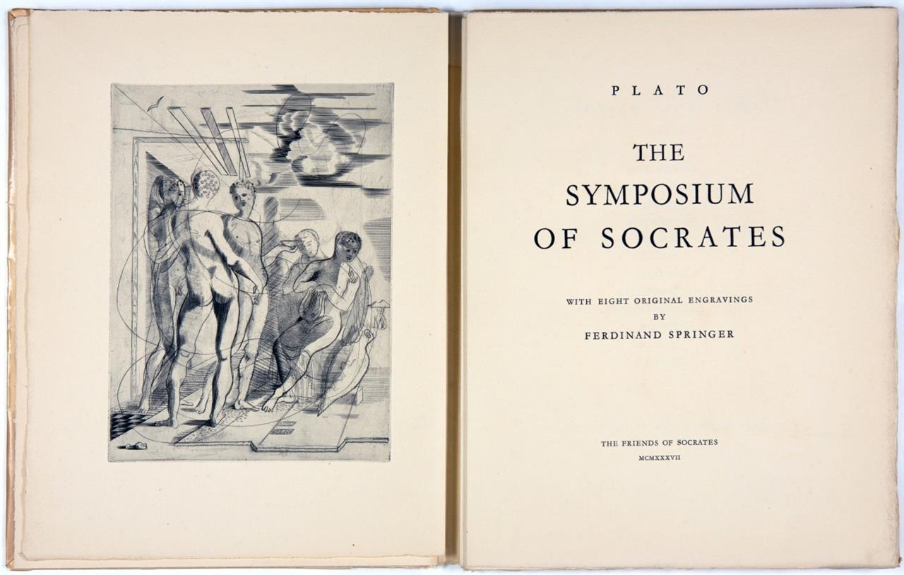 Platon / F. Springer, The Symposium of Socrates. Stgt. 1937.
