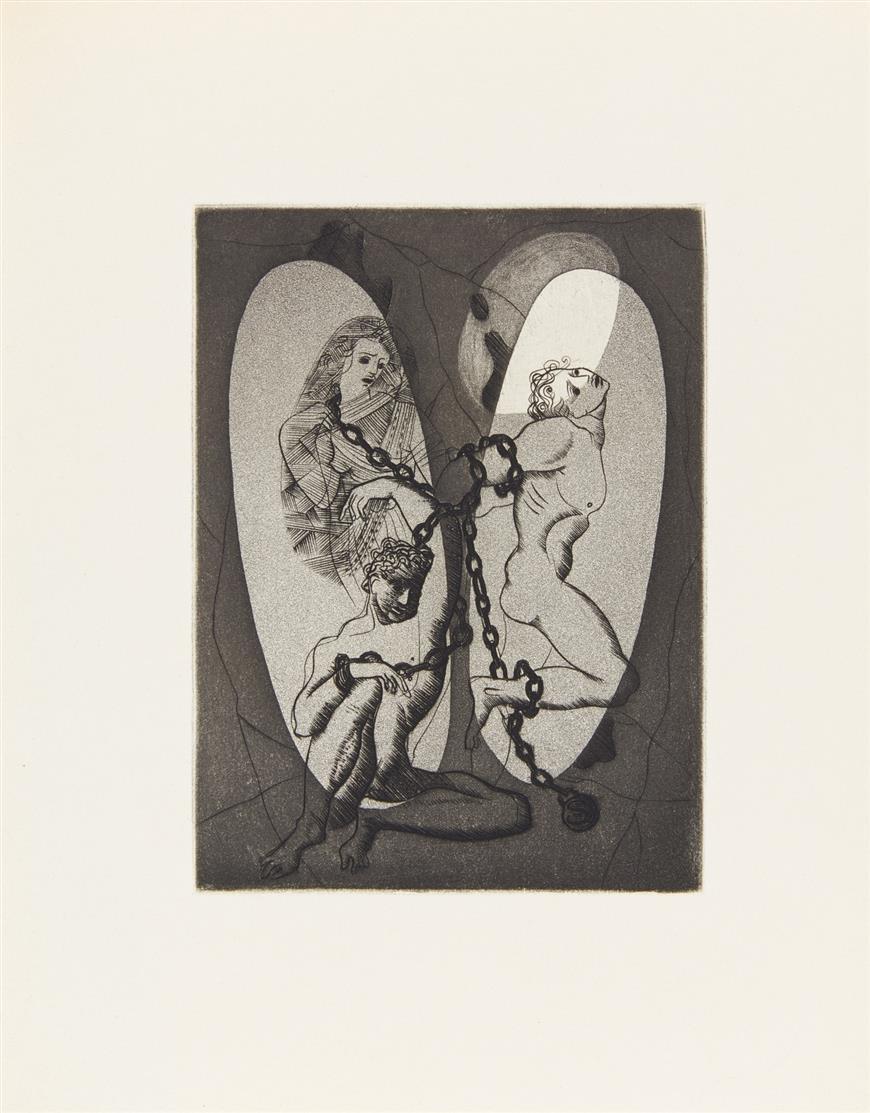 Platon / F. Springer, Le Mythe de la caverne. Paris 1948. - Ex. 31/146.