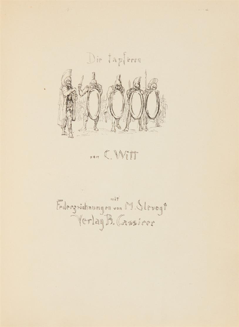 C. Witt / M. Slevogt, Die tapferen Zehntausend. Berlin 1921. - Ex. 172/400.