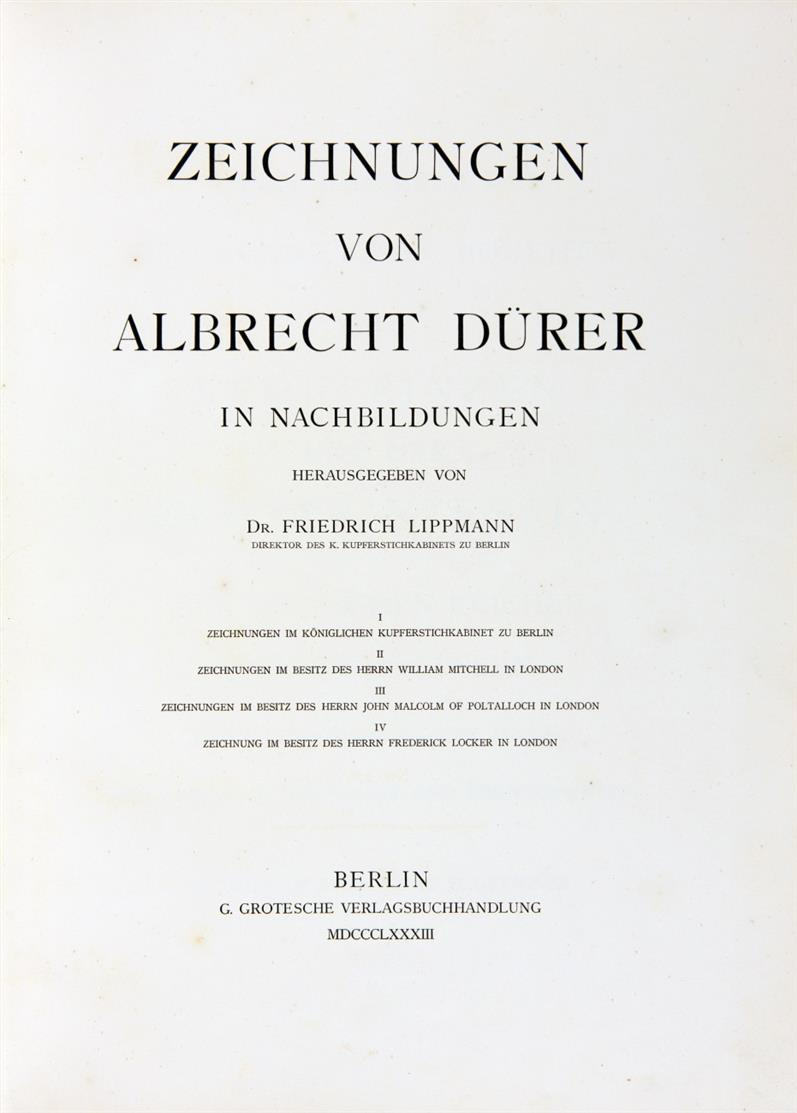 F. Lippmann (Hrsg.), Zeichnungen von Albrecht Dürer. 49 Abt. in 5 Bden. 1883-1905.