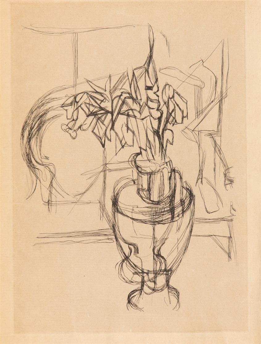 J. Villon / H. Pichette, Dents de lait, dents de loup. Paris 1959. - Ex. 44/50 mit Suite der dpls. farb. Rad. auf Japan u. der SW-Rad. auf Arches.