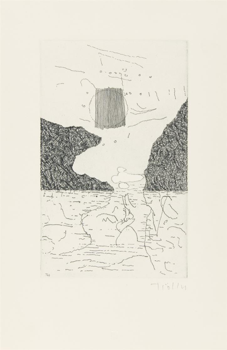 H. Trökes / G. de Nerval, (Gedichte). Übertr. von J. Ebeling. Schleiden-Olef 1963. - Ex. 10/60.